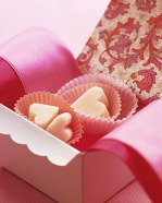 Valentine Fudge Hearts