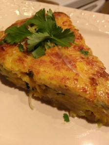 Leek. Spinach and Potato Frittata