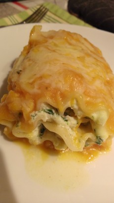 spinach and squash lasagna