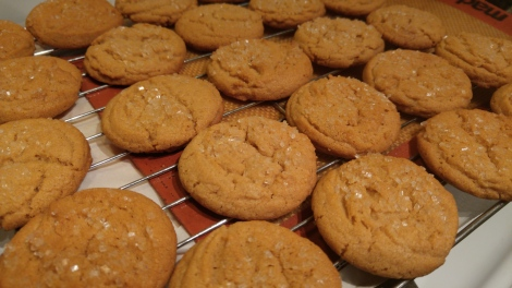 Chewy Peanut and Almond butter cookies